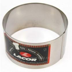 CERCLE A TARTE RONDE 8 X 6 CM La pâtisserie 991LC68608, reference 991LC68608