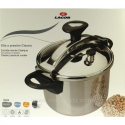 Autocuiseur Inox classic 6 litres Lacor 71876, reference 991LC71876