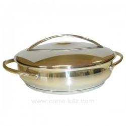 PLAT ROND AVEC COUVERCLE BELLY Batterie de cuisine 991LC79624, reference 991LC79624