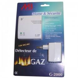 Alarme Detecteur de gaz naturel et butane propane, reference 996731