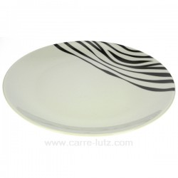 assiette bienvenue Luna Swing Porcelaine Bruno Evrard CL10010303, reference CL10010303