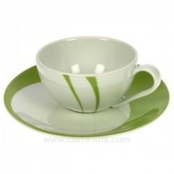 Tasse a cafe Luna Swing vert Porcelaine Bruno Evrard CL10010506, reference CL10010506