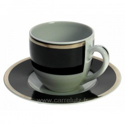 Tasse moka Black filet platine, reference CL10020652