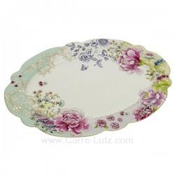 Plat ovale décor en porcelaine décorée chinoiserie , reference CL10020670