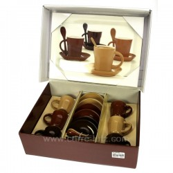 Coffret 6 tasses cafe+ plateau Arts de la table CL10030155, reference CL10030155
