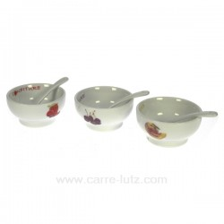 Coffret 3 coupelles confiture Arts de la table CL10030164, reference CL10030164