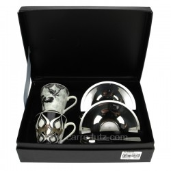Coffret 2 tasses cafe Dolce Arts de la table CL10030167, reference CL10030167