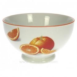 Bol orange Arts de la table CL10030189, reference CL10030189