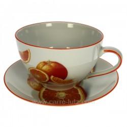 Dejeuner orange Arts de la table CL10030195, reference CL10030195