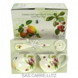 Coffret sucrier/cremier fruits Arts de la table CL10030208, reference CL10030208