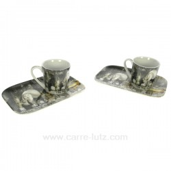Coffret 2 tasses expresso New York Arts de la table CL10030225, reference CL10030225