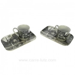 Coffret 2 tasses expresso Paris Arts de la table CL10030226, reference CL10030226
