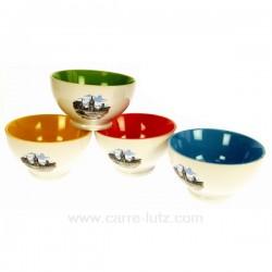 Lot de 4 bols porcelaine Bethune Arts de la table CL10030240, reference CL10030240