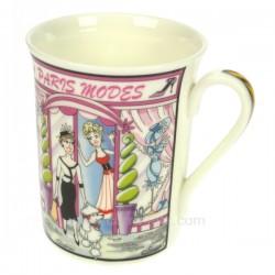 Mug vie Parisienne Paris mode Arts de la table CL10070104, reference CL10070104