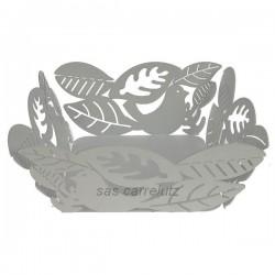 Corbeille à pain ou à fruits blanche. Décor oiseaux et feuilles. Mascagni, reference CL12000037