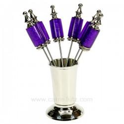 Piques aperitif violet L'apéritif CL13000049, reference CL13000049