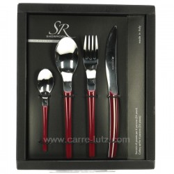 Coffret 24 pieces Loto rouge Couverts CL14005034, reference CL14005034