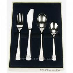 Coffret 4 pièces enfant inox 18/10 décor ourson sur manche, reference CL14600011