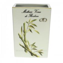 Vase mariage déor bambou porcelaine lhonneur, reference CL14601000