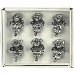 coffret de 6 portes couteaux en inox décor ange , reference CL15000012