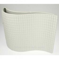 Vase moderne blanc en porcelaine longueur 30 cm, reference CL18000018