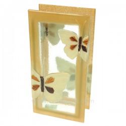 Vase en verre forme rectangulaire décor papillon, reference CL18000034