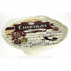 Plat a gateaux sur pied chocolat Arts de la table CL21010023, reference CL21010023