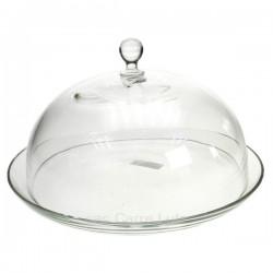 Cloche sur plat en verre, reference CL21010057