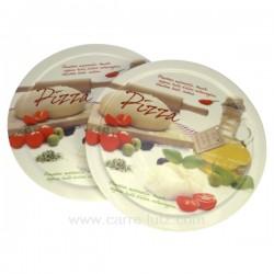 Coffret 2 assiettes pizza Arts de la table CL21030009, reference CL21030009