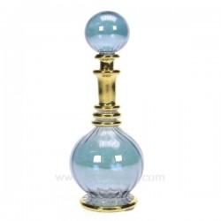 Flacon de parfum Egyptien en verre rétro couleur bleu, reference CL21040088