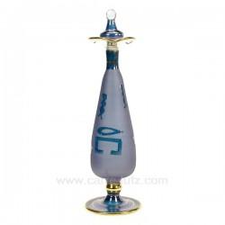 Flacon de parfum Egyptien en verre couleur sablé mauve, reference CL21040129