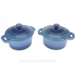 2 Mini cocotte fonte bleue La cuisine CL25001022, reference CL25001022