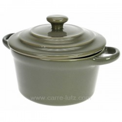 Mini cocotte ronde 10 x 6 cm taupe La cuisine CL25001025, reference CL25001025