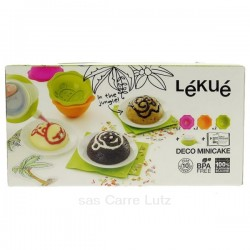 Kit mini cake décor jungle en silicone Lékué, reference CL27000033