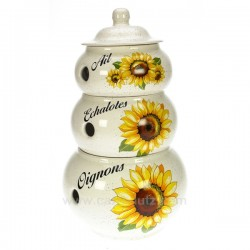 3 pots condiments tournesol La cuisine CL29000049, reference CL29000049