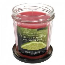 Bougie parfumée confiture decitron vert et coquelicot Point à la ligne, reference CL31000040