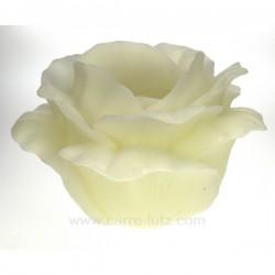 Photophore rose blanche parfumée diamètre 26 cm Point à la ligne, reference CL31000095