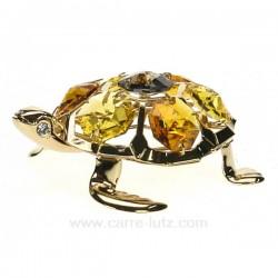 Tortue or en métal doré et cristaux de Swarovski, reference CL40002012