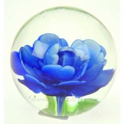 Sulfure décordécor fleur bleue diamètre 7 cm, reference CL41000017