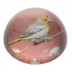 Sulfure oiseau fond rose , reference CL41000036
