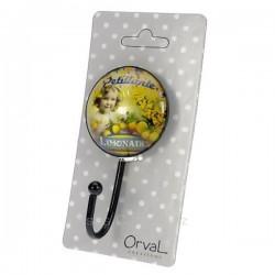 Accroche torchon rond Orval Créations pétillante limonade, reference CL46301019