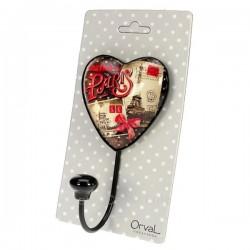 Accroche torchon coeur Orval Créations souvenir de Paris, reference CL46301042