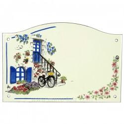 Plaque emaillee volet bleu Cadeaux - Décoration CL46302004, reference CL46302004