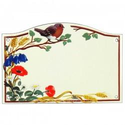 Plaque emaillee rouge gorge Cadeaux - Décoration CL46302005, reference CL46302005