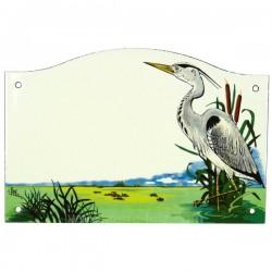 Plaque emaillee heron Cadeaux - Décoration CL46302007, reference CL46302007