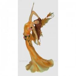 Fee debout robe orange Thème lutin sorcière et fée CL47000115, reference CL47000115