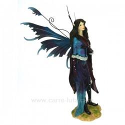 Fee debout bleu/mauve Thème lutin sorcière et fée CL47000121, reference CL47000121