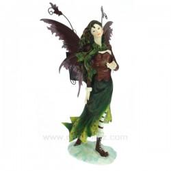 Fee debout brun/vert Thème lutin sorcière et fée CL47000122, reference CL47000122