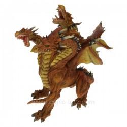 Dragon 3 tetes orange Thème lutin sorcière et fée CL47000201, reference CL47000201