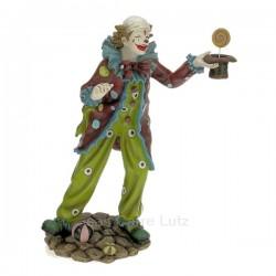 Clown chapeau en résine hauteur 32,5 cm, reference CL47001033
